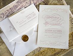 Thiệp cưới vintage V-010
